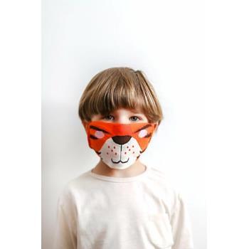 Maseczka bawełniana pomarańcz/tygrys Maseczka ochronna